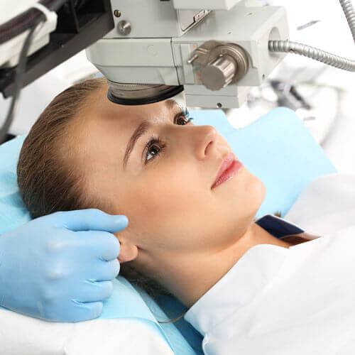 Woman Having LASIK Surgery