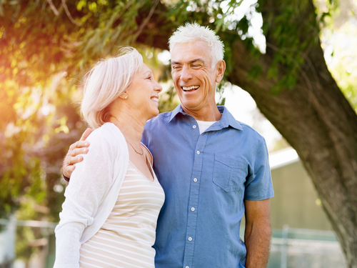Couple after receiving Glaucoma